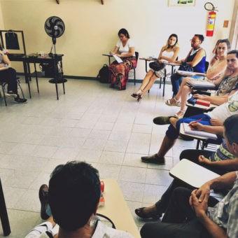 A presidente da ABMA Nacional reuniu-se com os alunos do Curso Básico de Antroposofia coordenado pelo Dr. Antônio Marques, em Juiz de Fora, em janeiro de 2017