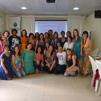 Alunos do CB Regional ABMA-SE com Dra. Fernanda Camarano e Dra. Elizabeth Contrim